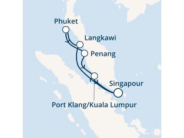 Singapour, Malaisie, Thaïlande avec le Costa Mediterranea