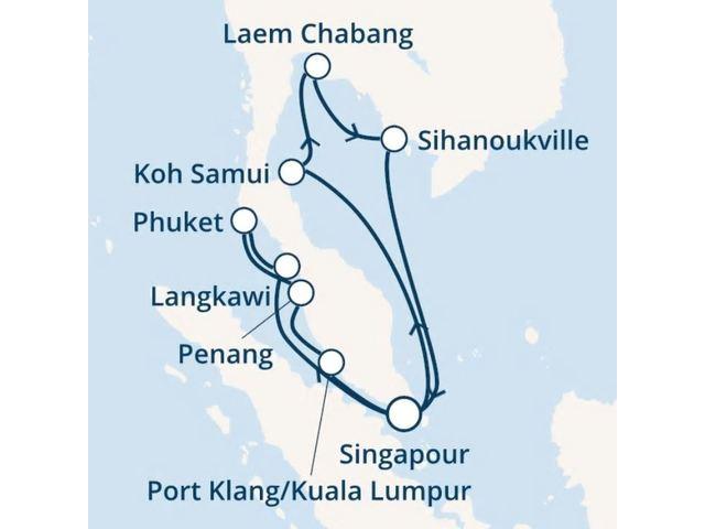 Singapour, Thaïlande, Malaisie avec le Costa Mediterranea