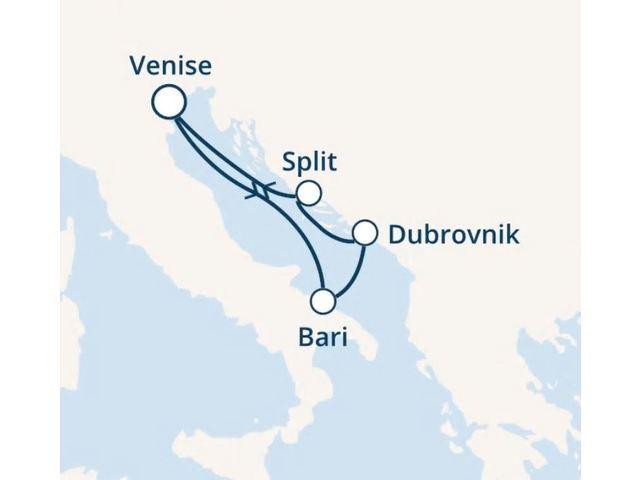 Italie, Croatie avec le Costa Victoria