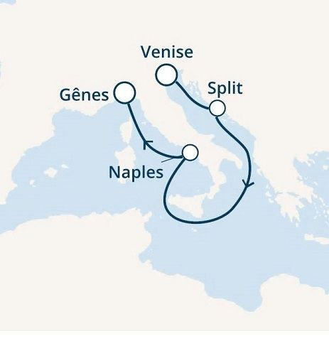 Italie, Croatie avec le Costa Mediterranea