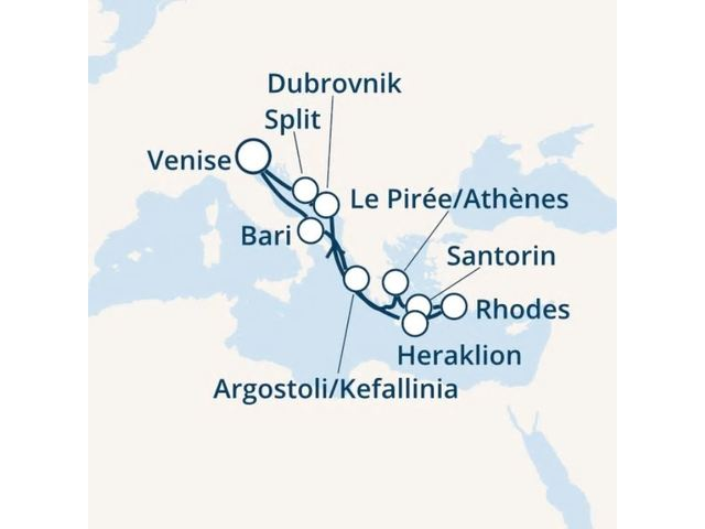 Italie, Grèce, Croatie avec le Costa Victoria