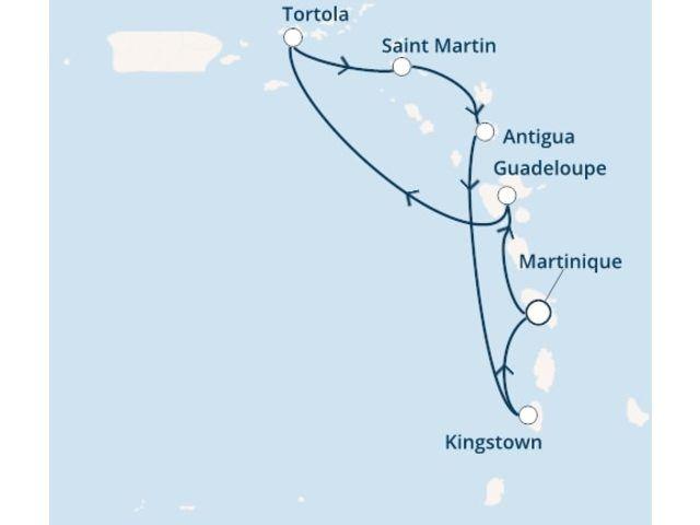 Antilles, Iles Vierges avec le Costa Magica