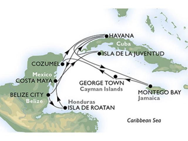 crucero-Cuba, Belice, Honduras, México, Jamaica, Gran Caimán - 14 noches a bordo del MSC Opera