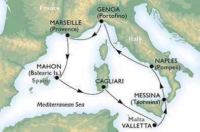 crucero-Italia, Francia, España, Malta - 7 noches a bordo del MSC Armonia
