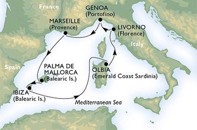 crucero-Francia, España, Italia - 7 noches a bordo del MSC Armonia