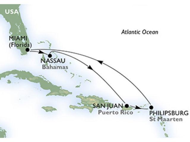 crucero-Estados Unidos, Bahamas, Puerto Rico, St. Maarten - 7 noches a bordo del MSC Seaside