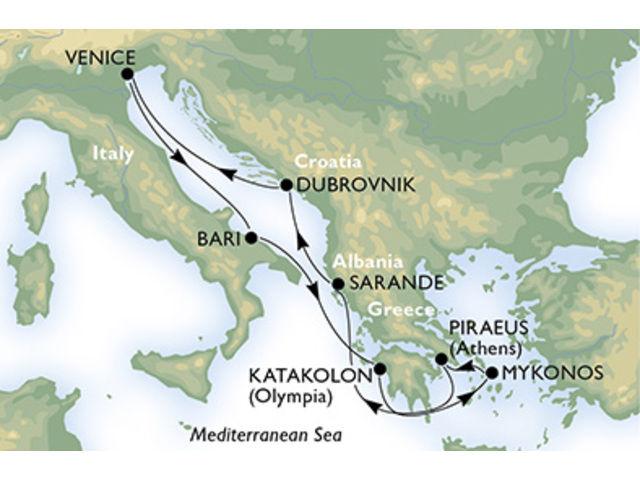 crucero-Italia, Grecia, Albania, Croacia - 7 noches a bordo del MSC Poesia