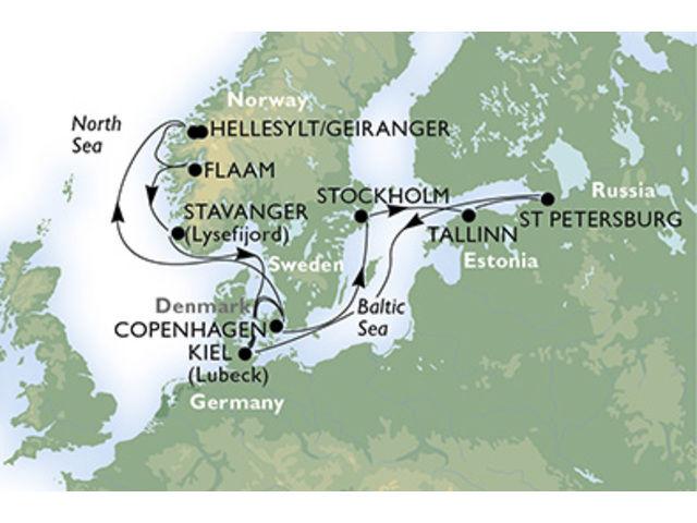 crucero-Alemania, Dinamarca, Noruega, Suecia, Estonia, Rusia - 14 noches a bordo del MSC Fantasia