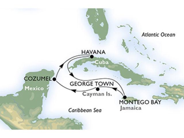 crucero-Cuba, Jamaica, Gran Caimán, México - 7 noches a bordo del MSC Opera