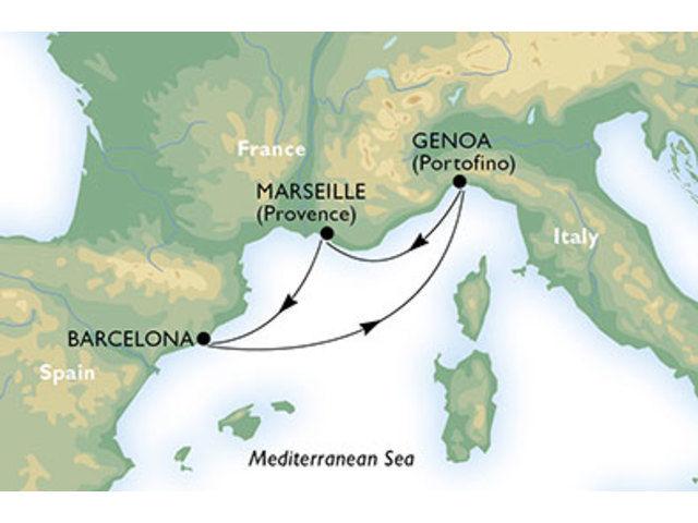 crucero-España, Italia, Francia - 4 noches a bordo del MSC Orchestra