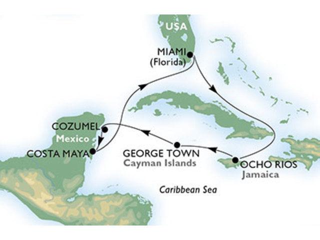 crucero-Estados Unidos, Jamaica, Gran Caimán, México - 7 noches a bordo del MSC Seaside