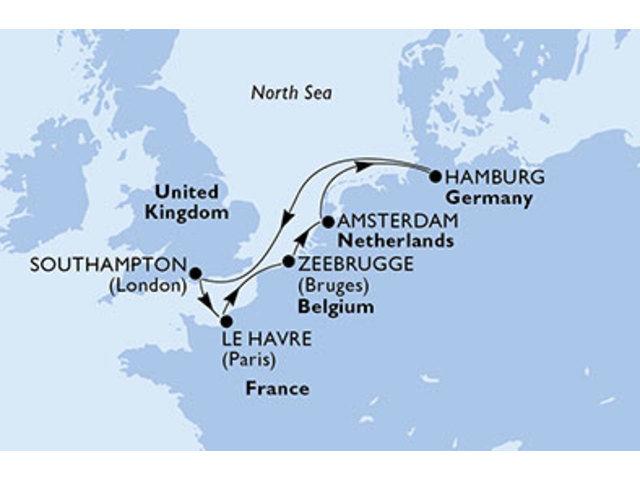 crucero-Alemania, Reino Unido, Francia, Bélgica, Holanda - 7 noches a bordo del MSC Magnifica
