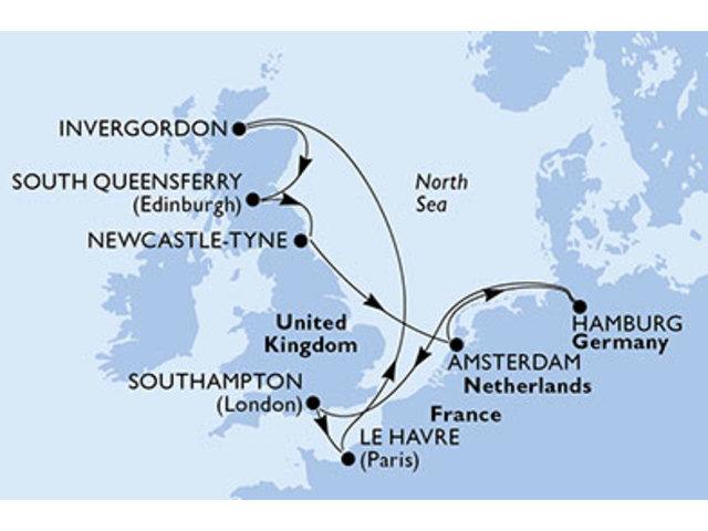 crucero-Alemania, Reino Unido, Francia, Holanda - 10 noches a bordo del MSC Magnifica