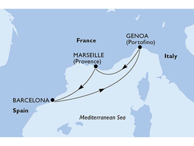 crucero-España, Italia, Francia - 3 noches a bordo del MSC Magnifica