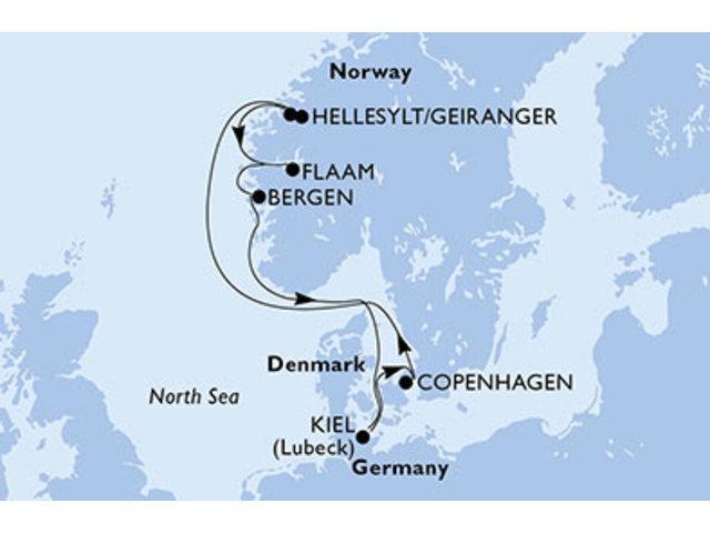 crucero-Dinamarca, Noruega, Alemania - 7 noches a bordo del MSC Preziosa