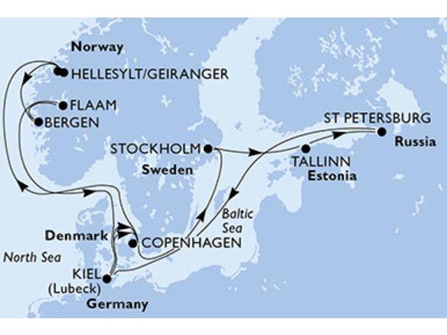 crucero-Dinamarca, Noruega, Alemania, Suecia, Estonia, Rusia - 14 noches a bordo del MSC Preziosa