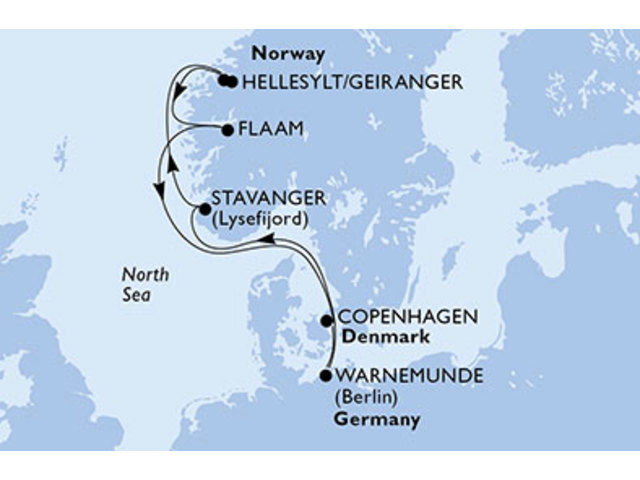 crucero-Dinamarca, Alemania, Noruega - 7 noches a bordo del MSC Orchestra