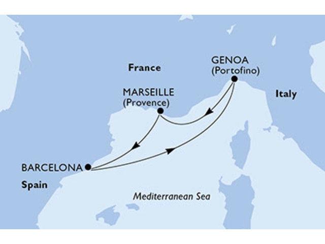 crucero-España, Italia, Francia - 3 noches a bordo del MSC Orchestra