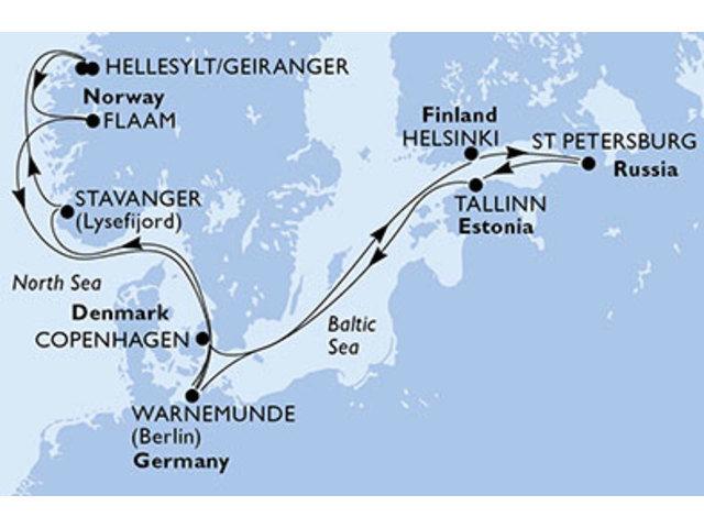 crucero-Alemania, Noruega, Dinamarca, Finlandia, Rusia, Estonia - 14 noches a bordo del MSC Orchestra