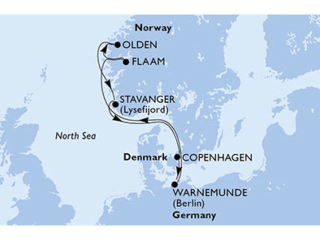 crucero-Alemania, Noruega, Dinamarca - 7 noches a bordo del MSC Orchestra