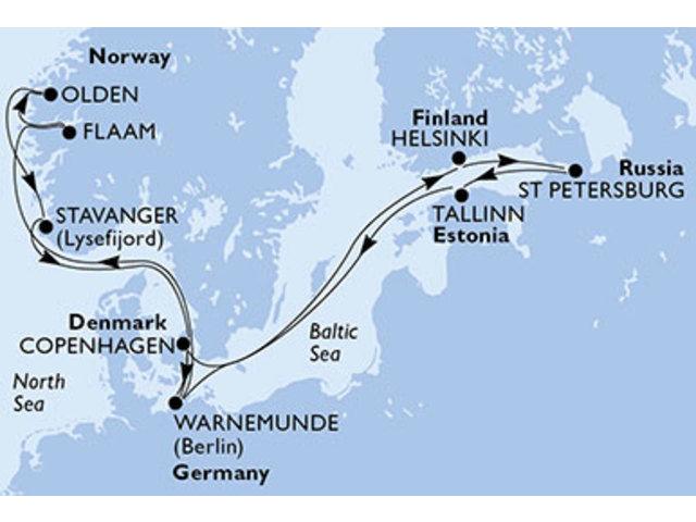 crucero- Alemania, Finlandia, Rusia, Estonia, Dinamarca, Noruega - 14 noches a bordo del MSC Orchestra