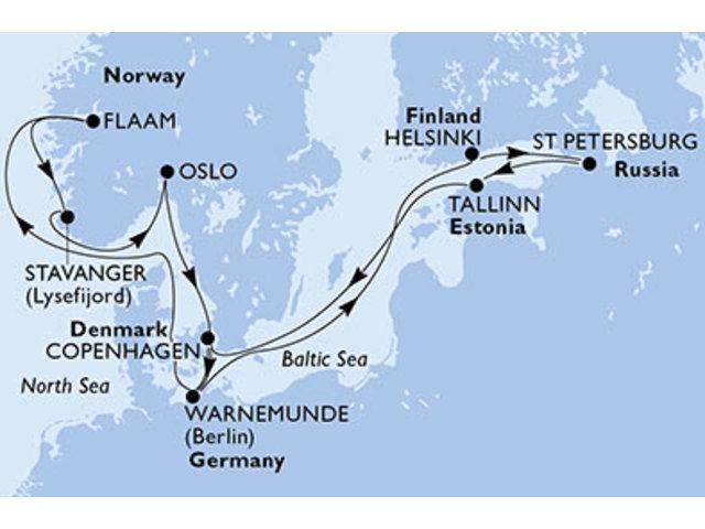 crucero-Dinamarca, Alemania, Finlandia, Rusia, Estonia, Noruega - 14 noches a bordo del MSC Orchestra