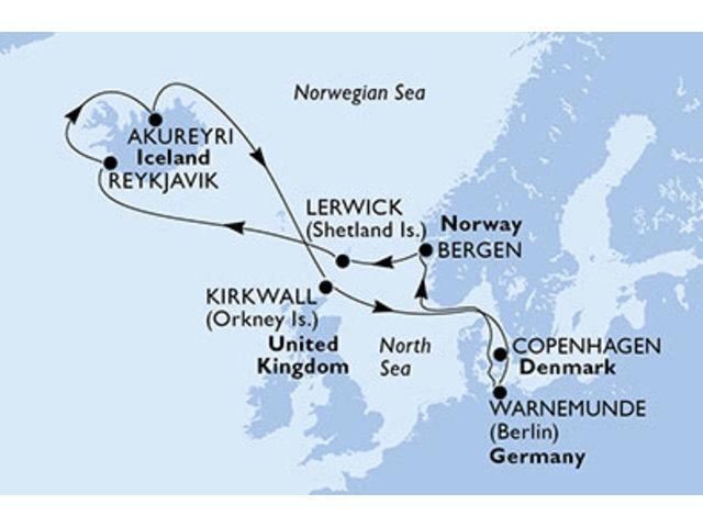 crucero-Dinamarca, Alemania, Noruega, Reino Unido, Islandia - 11 noches a bordo del MSC Orchestra
