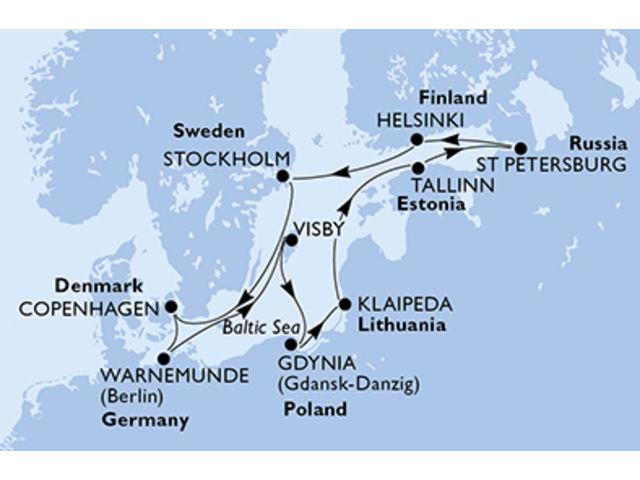 crucero-Dinamarca, Alemania, Suecia, Polonia, Lituania, Estonia, Rusia, Finlandia - 11 noches a bordo del MSC Orchestra