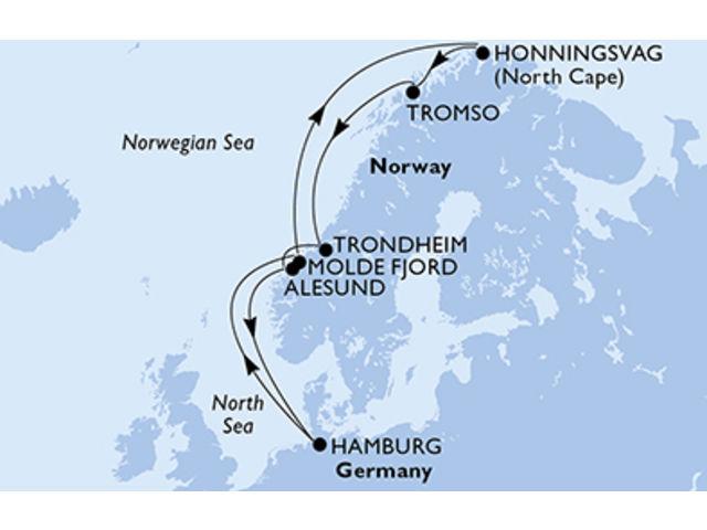 crucero-Alemania, Noruega - 10 noches a bordo del MSC Meraviglia