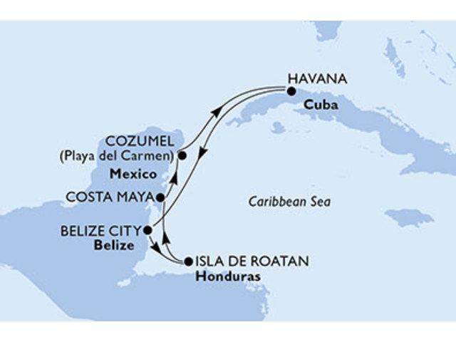 crucero- Cuba, Belice, Honduras, México - 7 noches a bordo del MSC Armonia