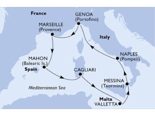 crucero-Italia, Francia, España, Malta - 7 noches a bordo del MSC Opera