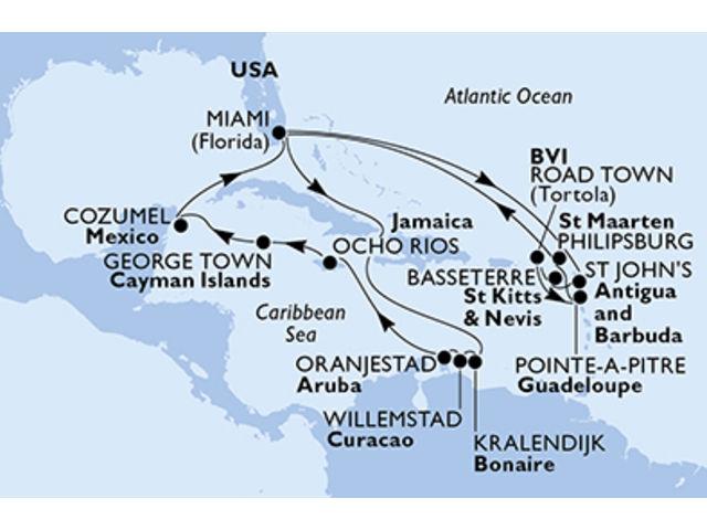 crucero-Caribe - 21 noches a bordo del MSC Divina
