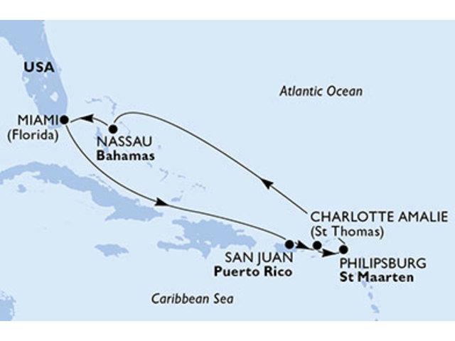 crucero-Estados Unidos, Puerto Rico, Islas Vírgenes, St. Maarten, Bahamas - 7 noches a bordo del MSC Seaside