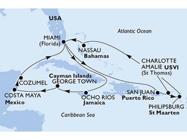 crucero-Caribe - 14 noches a bordo del MSC Seaside