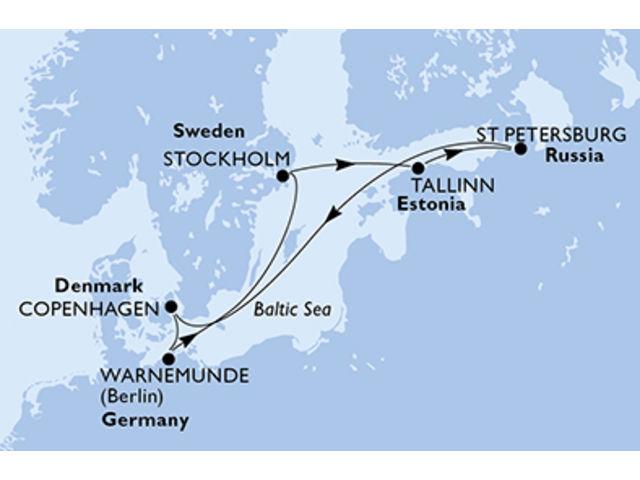 crucero-Dinamarca, Alemania, Suecia, Estonia, Rusia - 7 noches a bordo del MSC Poesia