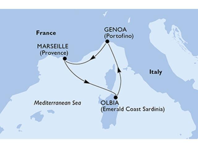 crucero-Italia, Francia - 3 noches a bordo del MSC Opera