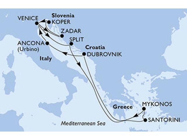 crucero-Italia, Croacia, Grecia, Eslovenia - 10 noches a bordo del MSC Sinfonia