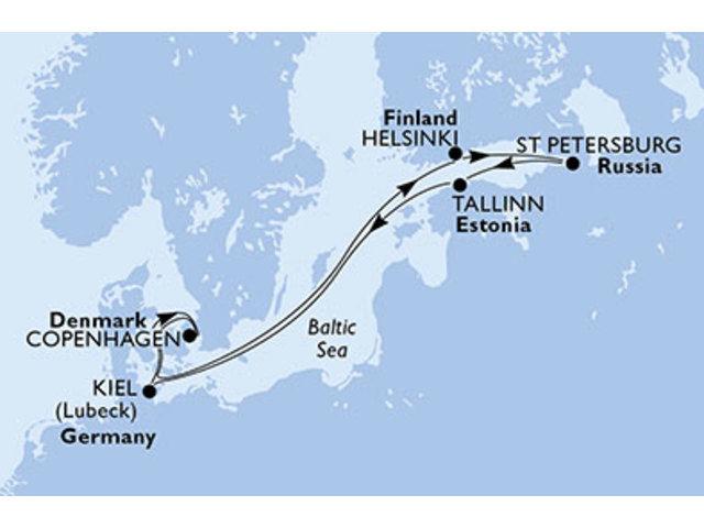 crucero-Dinamarca, Finlandia, Rusia, Estonia, Alemania, Noruega - 7 noches a bordo del MSC Meraviglia