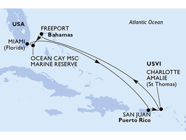 crucero-Estados Unidos, Puerto Rico, Islas Vírgenes (Estadounidenses), República Dominicana, Bahamas - 7 noches a bordo del MSC Seaside