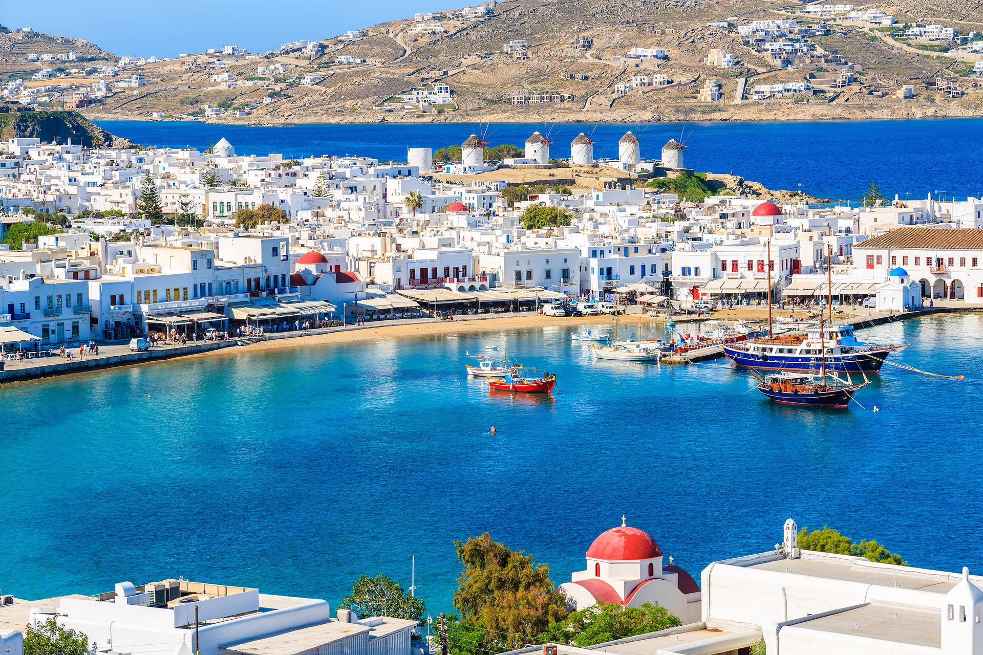 Merveilles des cyclades : mykonos, syros, naxos, santorin 3*