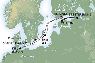 crucero-Alemania, Estonia, Rusia, Finlandia, Suecia - 7 noches a bordo del MSC Splendida