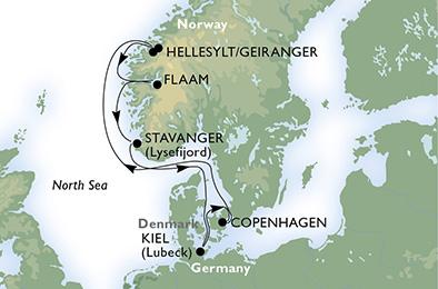 crucero-Alemania, Dinamarca, Noruega - 7 noches a bordo del MSC Fantasia