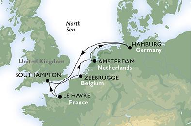 crucero-Alemania, Francia, Reino Unido, Bélgica, Holanda - 7 noches a bordo del MSC Preziosa