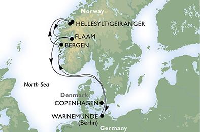 crucero-Alemania, Noruega, Dinamarca - 7 noches a bordo del MSC Magnifica