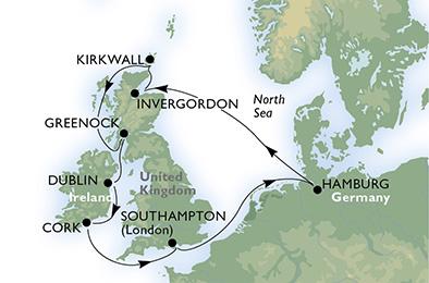 crucero-Alemania, Reino Unido, Irlanda - 11 noches a bordo del MSC Preziosa