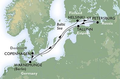 crucero-Dinamarca, Alemania, Finlandia, Rusia, Estonia - 7 noches a bordo del MSC Magnifica