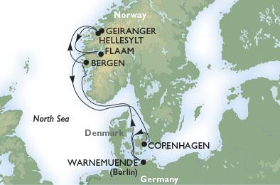 crucero-Dinamarca, Alemania, Noruega - 7 noches a bordo del MSC Magnifica