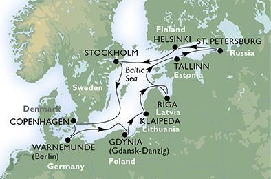 crucero- Alemania, Polonia, Lituania, Letonia, Estonia, Rusia, Finlandia, Suecia, Dinamarca - 11 noches a bordo del MSC Orchestra