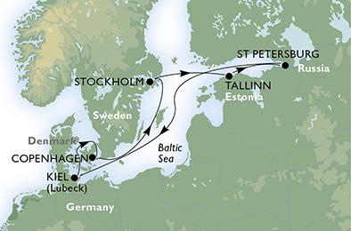crucero-Dinamarca, Suecia, Estonia, Rusia, Alemania - 7 noches a bordo del MSC Preziosa