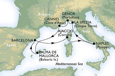 crucero-Italia, Francia, España - 7 noches a bordo del MSC Orchestra